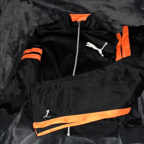 2019 original various styles great prices Size 6 boys orange and black puma tracksuit